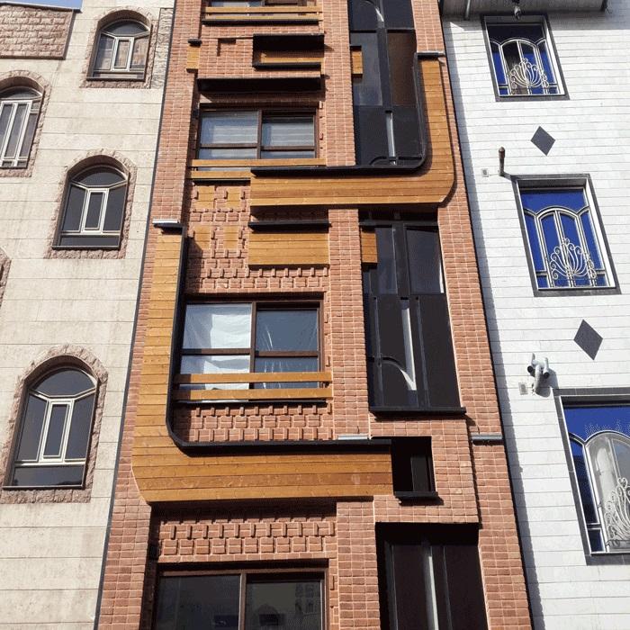نمای چوب ( ترمووود – ترموود – ترمو) مجتمع مسکونی کمیل