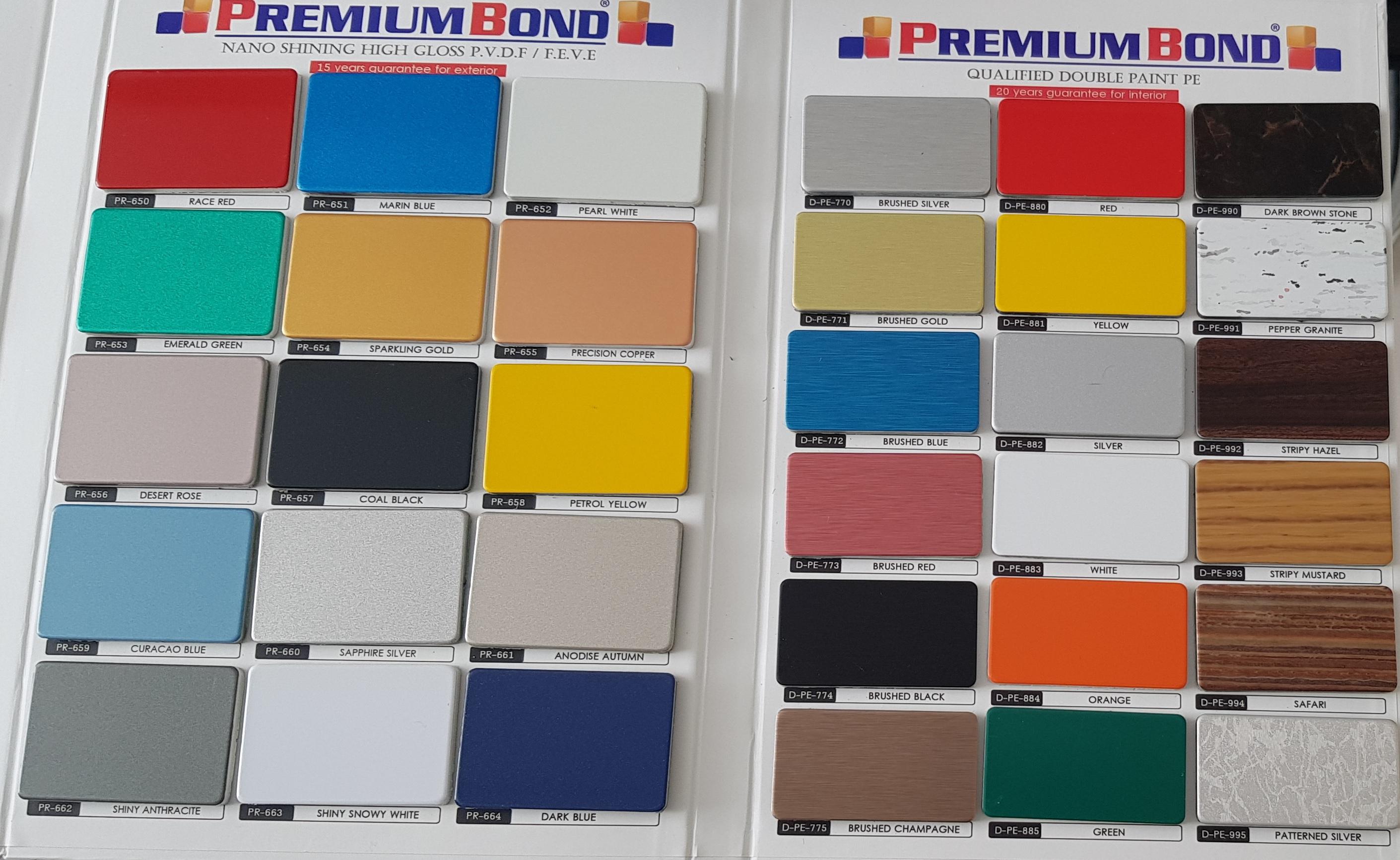 رنگ بندی ورق کامپوزیت - پرمیوم باند