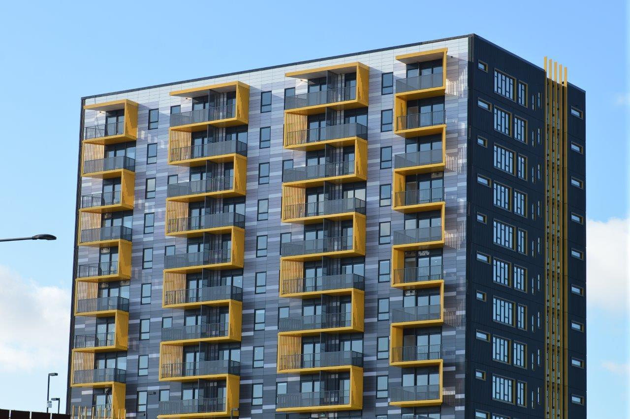 نمای کامپوزیت ساختمان مسکونی
