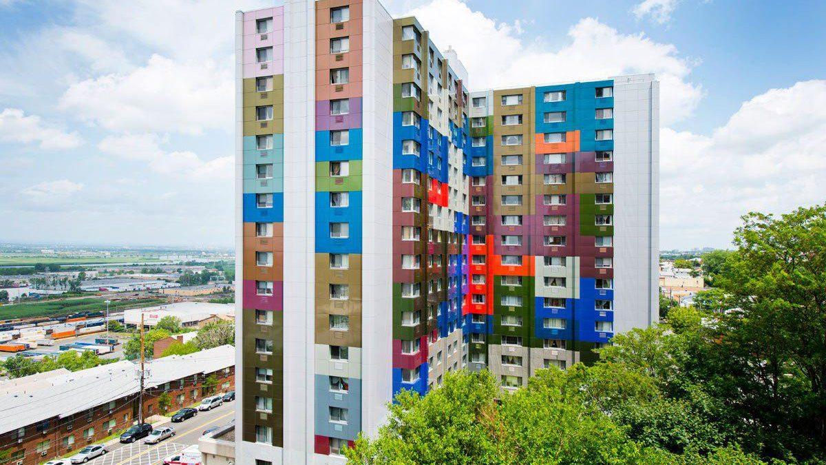 نمای کامپوزیت مجتمع مسکونی