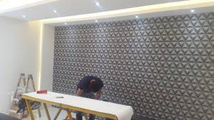 اجرای کاغذ دیواری