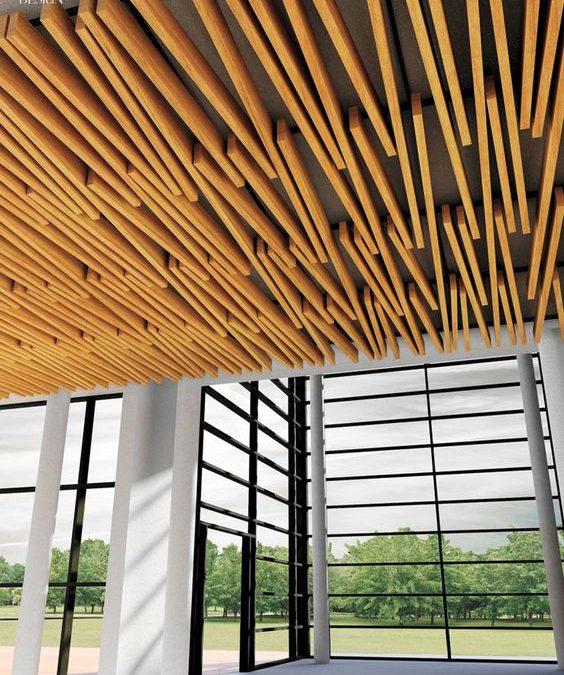 سقف چوب پلاست