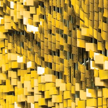 نمای آلومینیومی با استفاده از ورق آلومینیوم رنگی