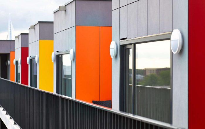 انواع فایبر سمنت برد - نمای ساختمان